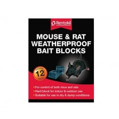 Mouse & Rat Weatherproof Bait Blocks (12)