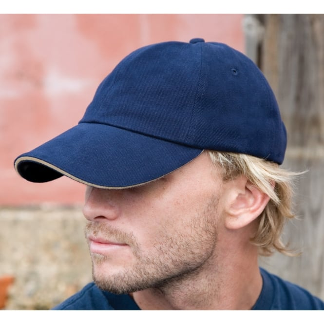 Result Headwear RC25P Pro-Style Heavy Brushed Cotton Cap With Sandwich Peak
