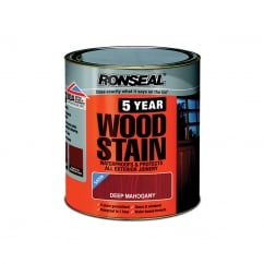 5 Year Woodstain Dark Mahogany 2.5 Litre