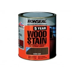 5 Year Woodstain Dark Oak 2.5 Litre