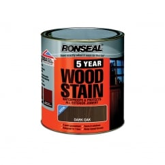 5 Year Woodstain Dark Oak 750ml