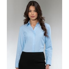 932F Ladies' Long Sleeve Easy Care Oxford Shirt Black - Size: L *One Size Only - Outlet Store*