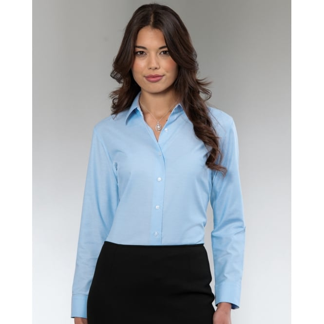 Russell Collection 932F Ladies' Long Sleeve Easy Care Oxford Shirt Black - Size: XL *One Size Only - Outlet Store*