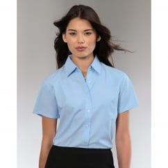 933F Ladies' Short Sleeve Easy Care Oxford Shirt Black - Size: S *One Size Only - Outlet Store*