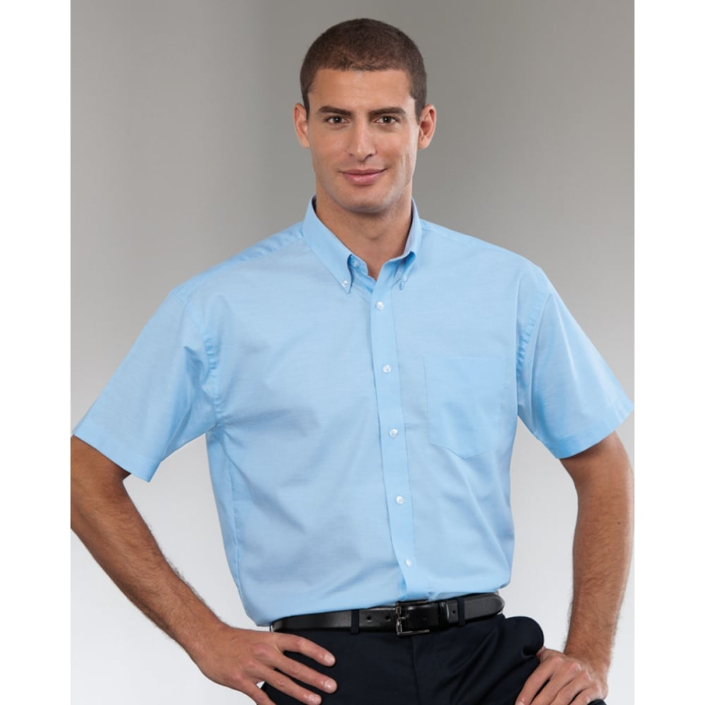 Russell Collection 933m Men S Short Sleeve Easy Care Oxford Shirt