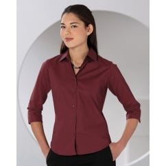 946F Ladies' 3/4 Sleeve Easy Care Fitted Shirt