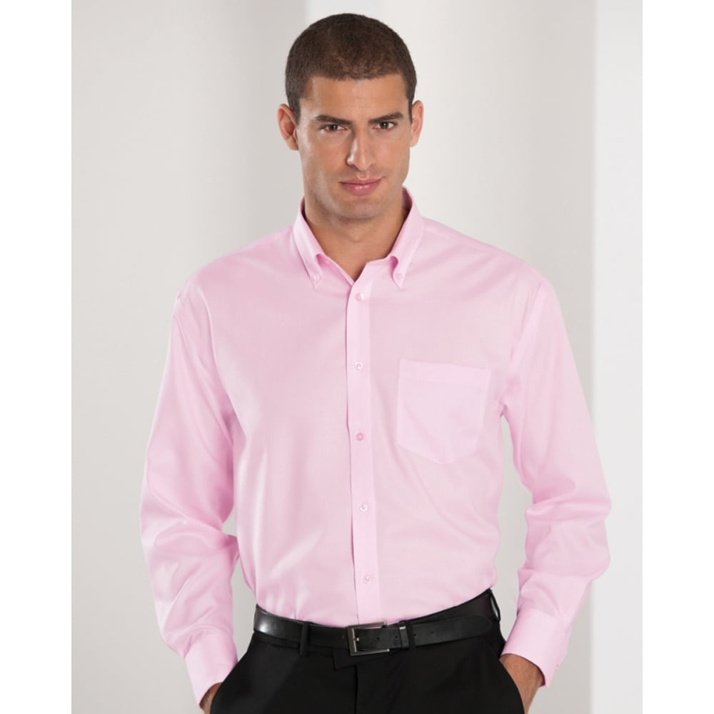Russell collection 956m men 39 s long sleeve ultimate non for Men s no iron dress shirts