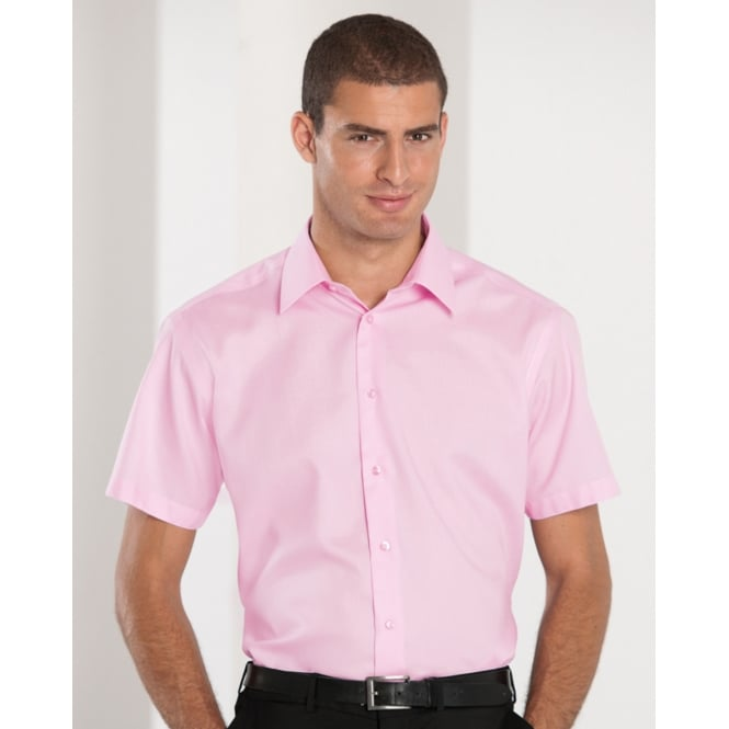 Russell Collection 959M Men's Short Sleeve Tailored Ultimate Non-Iron Shirt