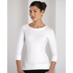 992F Ladies' 3/4 Sleeve Strech Top
