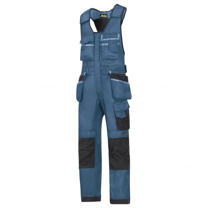 Snickers 0212 Craftsmen One-piece Holster Pocket Trousers, DuraTwill Ocean Blue/Black, Inside Leg: 32