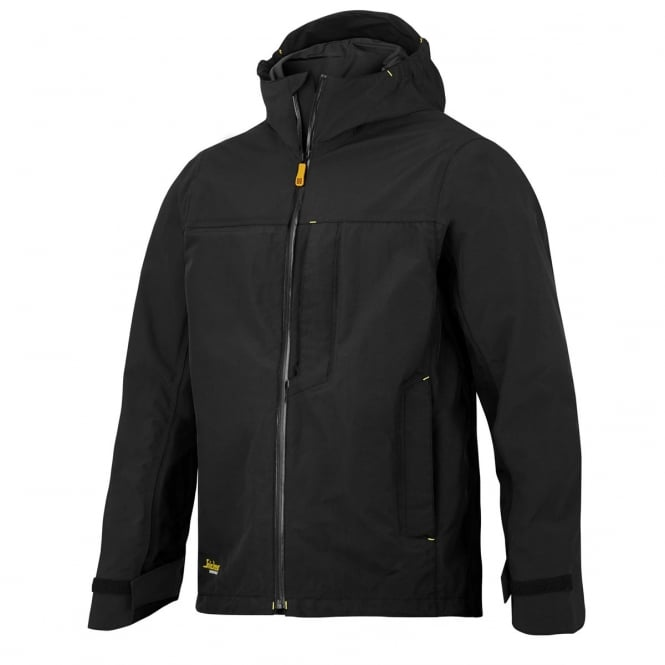 Snickers 1303 AllroundWork, Waterproof Shell Jacket Black - Size: L *One Size Only - Outlet Store*