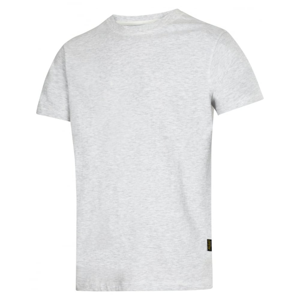 White 100/% Combed Cotton Snickers 2502 Classic Crew Neck T-Shirt