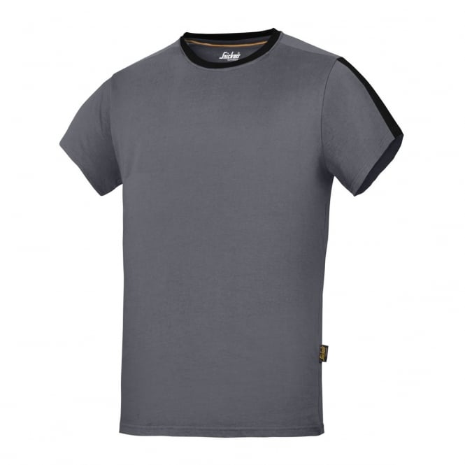 Snickers 2518 AllroundWork, T-shirt Steel Grey/Black - Size: XS *One Size Only - Outlet Store*