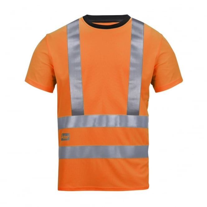 Snickers 2543 High-Vis Active Vaporize System T-Shirt, Class 2/3
