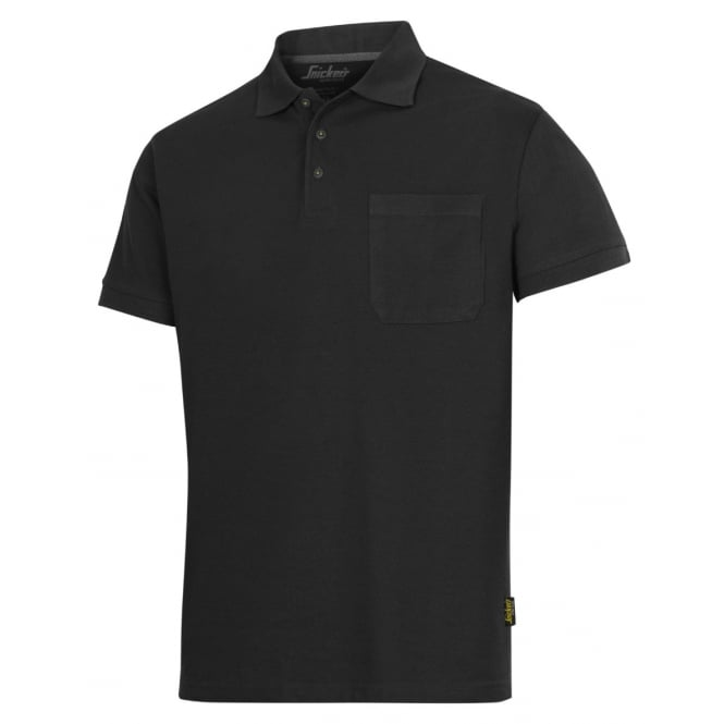 Snickers 2708 Classic Short Sleeve Polo Shirt 85c Washable Fabric Top: Black Size: S *One Size Only - Outlet Store*
