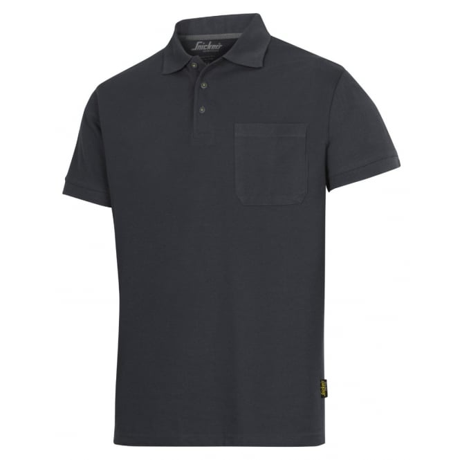 Snickers 2708 Classic Short Sleeve Polo Shirt 85c Washable Fabric Top: Steel Grey Size: M *One Size Only - Outlet Store*