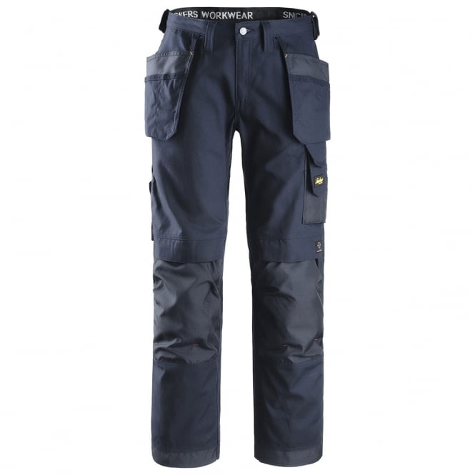 Snickers 3214 Work Trousers Craftsmen Combat Holster Heavy Cotton Pants Navy, Inside Leg: 32