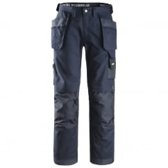 3214 Work Trousers Craftsmen Combat Holster Heavy Cotton Pants Navy, Inside Leg: 35