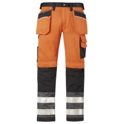 3233 Hi Visibility Work Trousers Holster Pocket Kneepad Pants