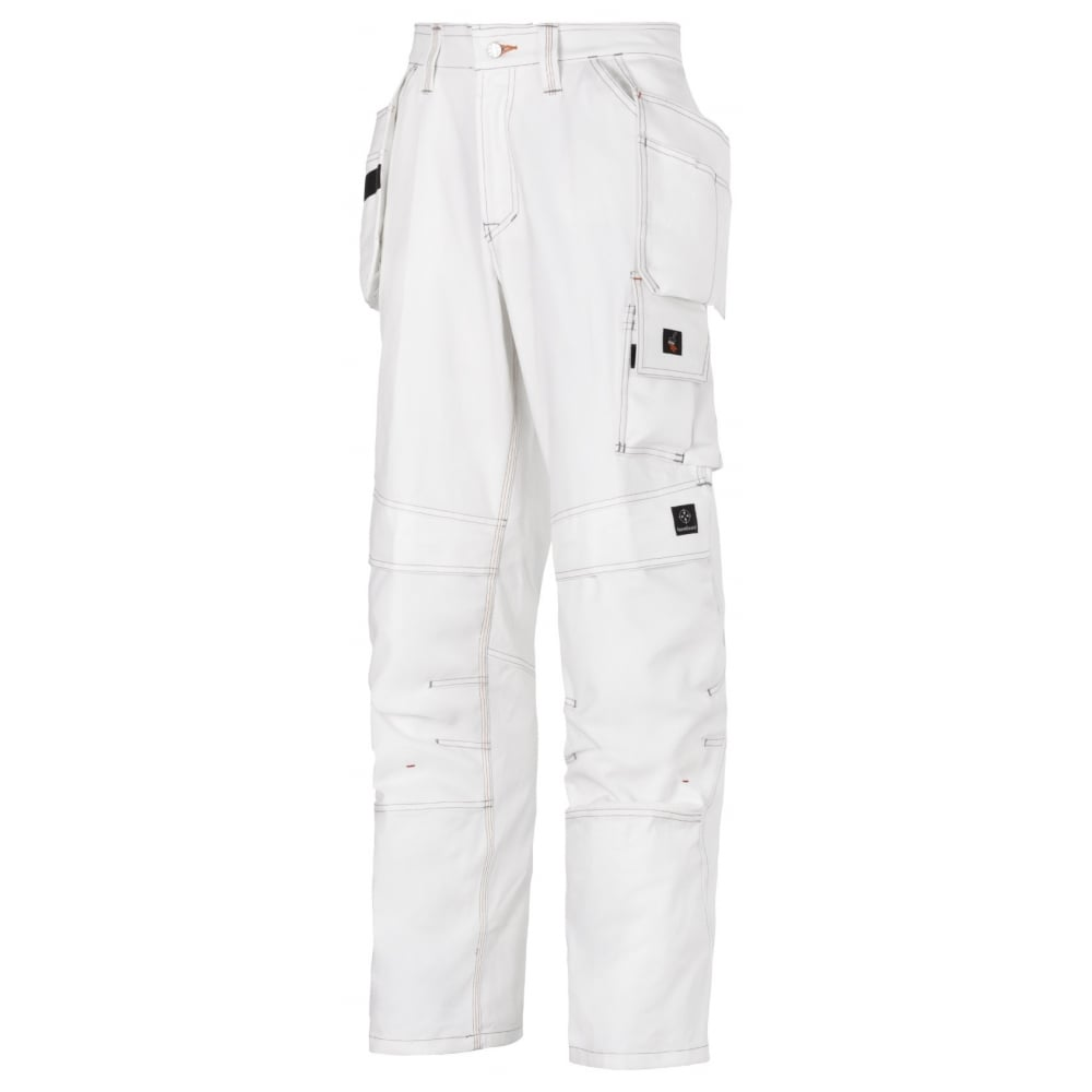 5e4e2a1c7ca1 Snickers 3275 Painters White Work Trousers Holster Pocket Kneepad Pants -  Clothing from M.I. Supplies Limited UK