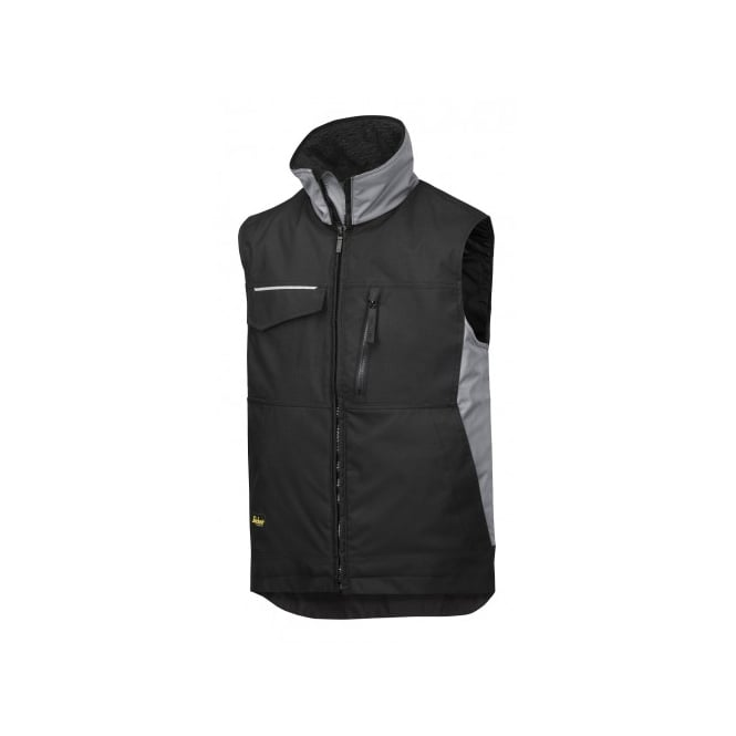 Snickers 4528 Craft Wt Vest: Black/Grey Size: S *One Size Only - Outlet Store*