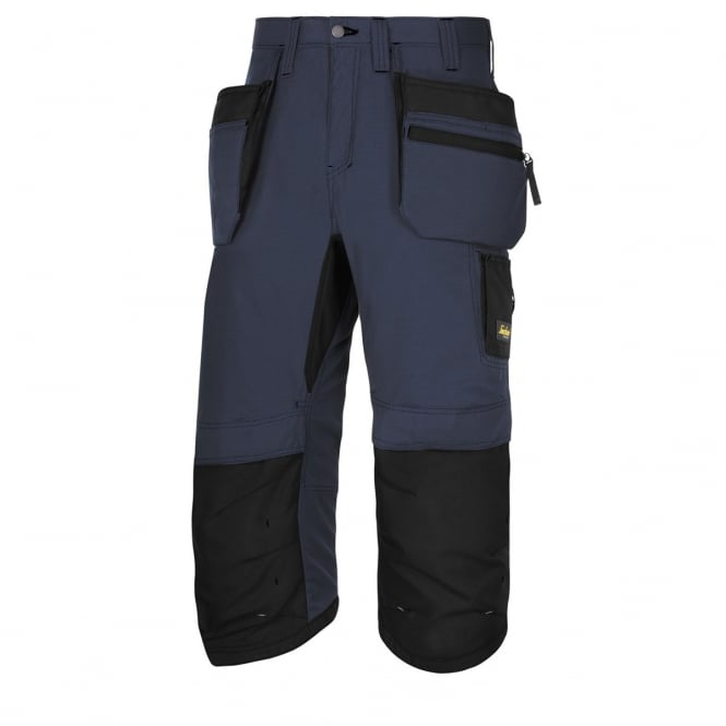 Snickers 6103 LiteWork, 37.5 Work Pirate Trousers+ Holster Pockets Navy/Black, Inside Leg: 32