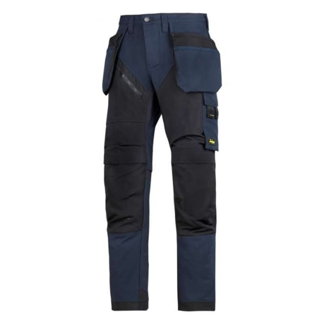 Snickers 6202 RuffWork Trousers with Holster Pockets Navy/Black, Inside Leg: 32