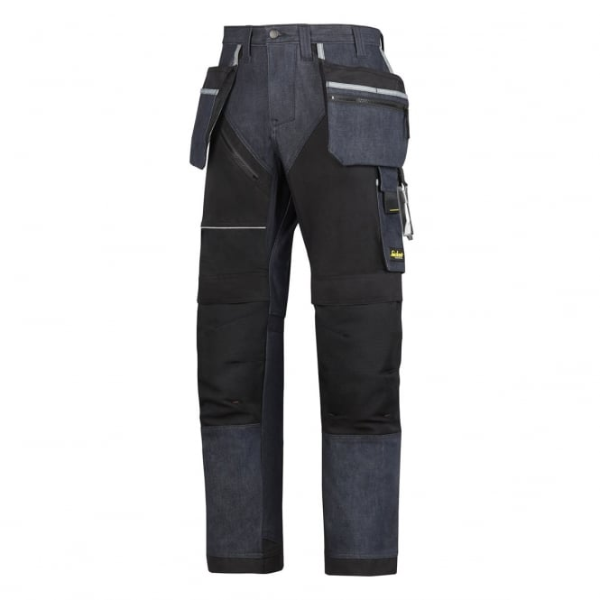Snickers 6204 RuffWork Denim, Work Trousers+ Holster Pockets