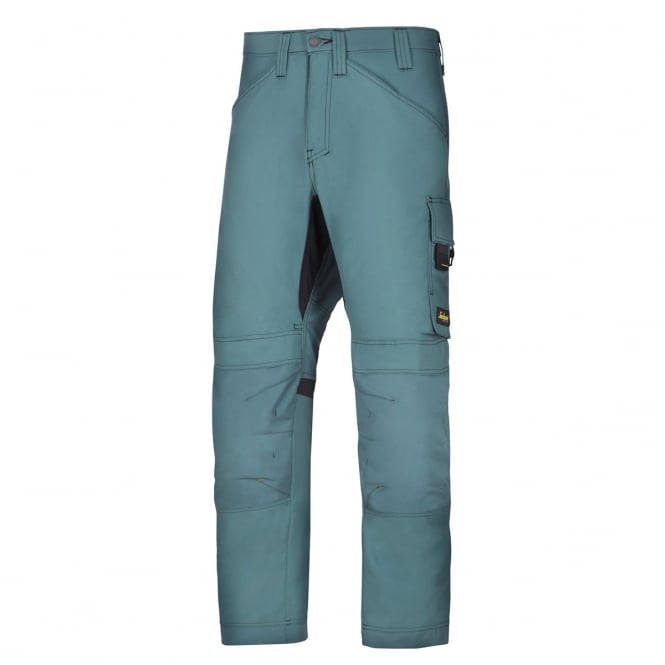 Snickers 6301 AllroundWork, Work Trousers Petrol, Inside Leg: 35