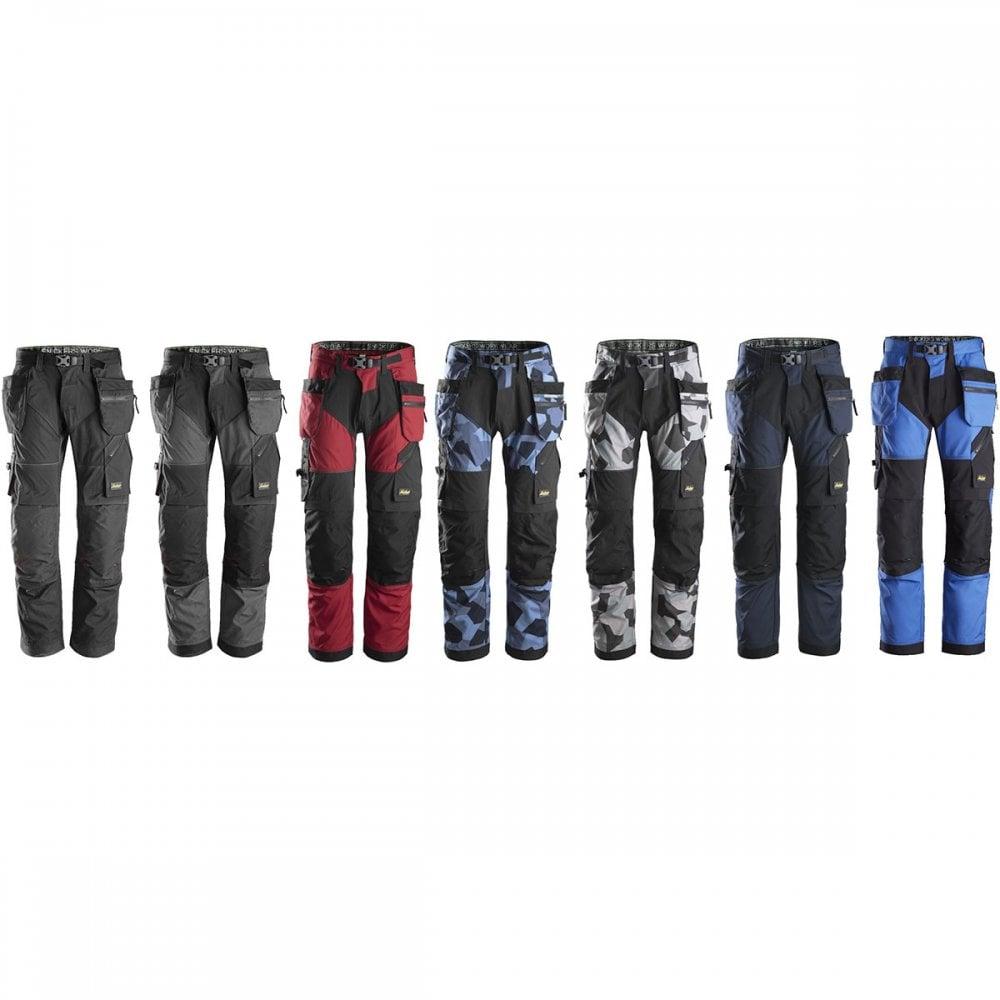 Work Trousers 6902 Snickers FlexiWork Cordura® Holster Pockets FREE SOCKS