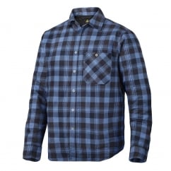 8501 RuffWork, Padded Flannel Checked Long Sleeve Shirt Navy/Cloud Blue - Size: XL *One Size Only - Outlet Store*