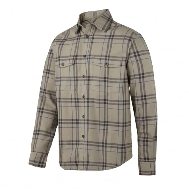 Snickers 8502 RuffWork, Flannel Checked Long Sleeve Shirt
