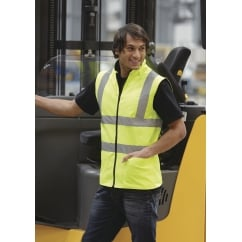 HV008F Hi-Vis Reversible Fleece Vest