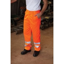 Yoko HV015T-3MR Hi-Vis Polycotton Work Trousers (Regular)