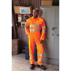 HV058-3M Hi-Vis Polycotton Coverall Hi Vis Orange - Size: 4XL *One Size Only - Outlet Store*
