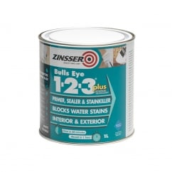 123 Bulls Eye Plus Primer / Sealer Paint 1 Litre