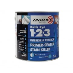 123 Bulls Eye Primer / Sealer Paint 2.5 Litre